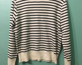 Stella Sweater- cream/blue stripe sweater