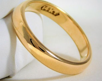 Classic 3.5mm 14k Gold Comfort Fit Wedding Band