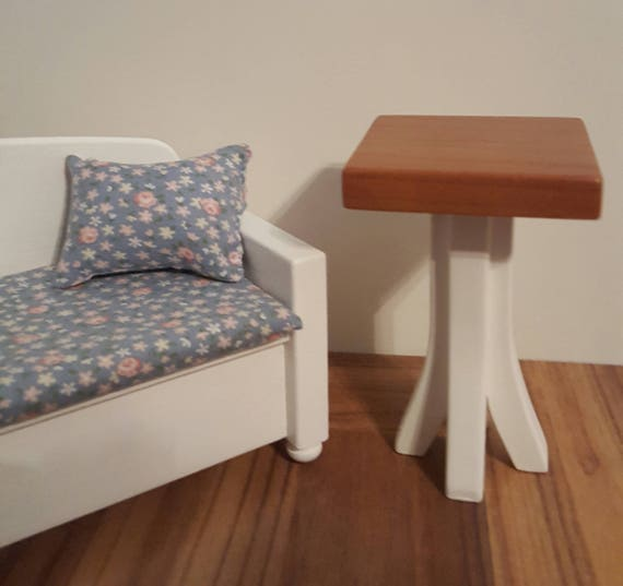 Cherry 1 6 scale side table 1 6 scale table 1 6 scale accent for 1 6 scale table
