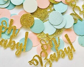 100ct oh baby! Confetti. Oh baby confetti, Baby shower confetti, Gender reveal confetti