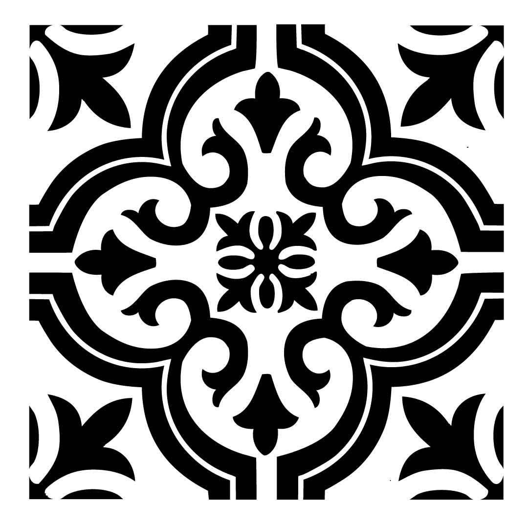 Reusable Laser Cut Small To Large Floor Or Wall Tile Stencil