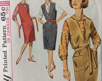 Simplicity 5067 misses jumper and blouse size 12 bust 32 vintage 1960's sewing pattern