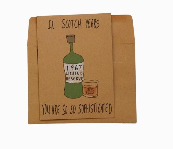 Funny 50th Birthday Card 50th Birthday Card Dad Scotch