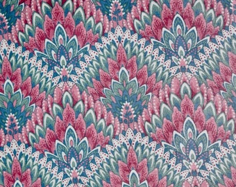 Vintage Mauve Fabric, Dusty Rose Fabric, Country Blue Fabric, Teal Green Fabric, Springs Industries, Pink Fabric, Pink Mauve Fabric