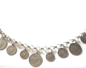 "Charivari ""Coins"", 40 cm, Dirndl jewelry, bodice jewelry"