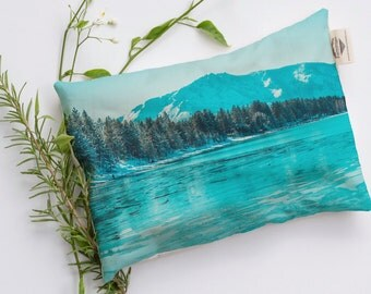 Frozen Tahoe in Color, Relaxation Pillow, Heat Pack. Microwavable and Washable Heat Bag.