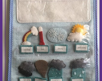 Handmade Felt Weather Station