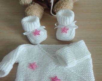 Whole baby jacket and slippers