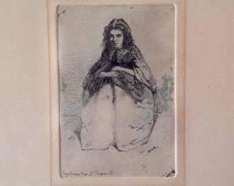 Fumette Etching by Whistler