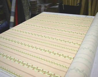 """Covington Designer Fabric Chalmers Stripe in Spring 100% Cotton  Upholstery & Home Decor Fabric 54""""Wide by the yd"""