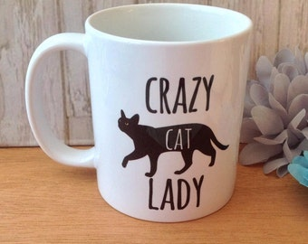 Crazy cat lady cat mug