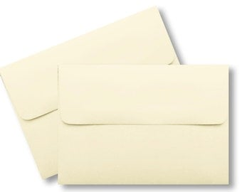 "A2 Ivory Envelopes for (4-1/8"" x 5-1/2"") Invitations Response Cards Announcements Weddings Shower Ecru Natural"