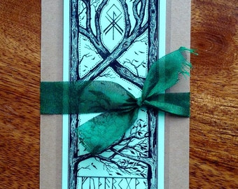 Bookmark with Pagan design (Green)