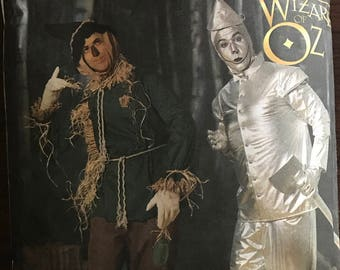 Simplicity 7820 - Wizard of Oz Scarecrow and Tin Man Costumes - Size XS S M L XL
