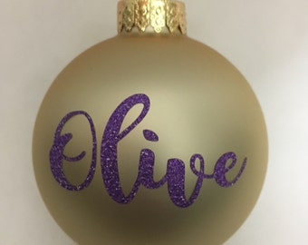 Custom Ornaments - Name or Exclamation