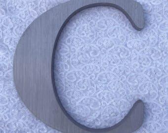 """C 12"""" metal sign letter"""