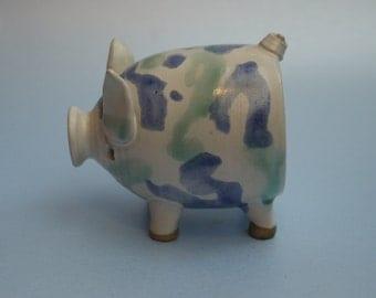 Studio Pottery Pig by Karen Wood Chelsea Studio pottery