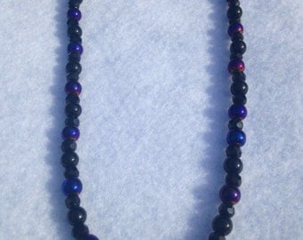 Midnight's Dance Beaded Necklace