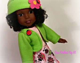 Little Ladybug Skirt set for 14 inch dolls