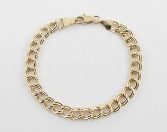 "14k Yellow Gold Charm Bracelet 7 1/4"" 10.9 grams"