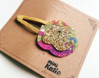 mini Katie alphabet series, Initial letter hair clips for baby toddler girls hair barrette