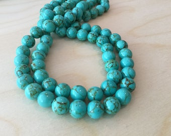 Green Turquoise Beads 10mm