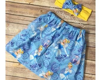 Cinderella skirt and bow turban
