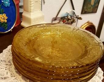 Wedding Golden glass Dessert Plates