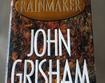 1995 The Rainmaker John Grisham Book Hardcover First Edition Signature on Front Cover