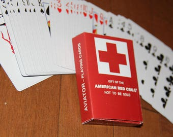 WW2 US American Playing cards box Aviator 1943 reproduction