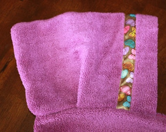 Butterfly Hooded Towel, Purple or Yellow - For babies, toddlers, preschoolers and beyond!
