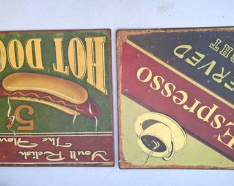 Set of two posters wall vintage