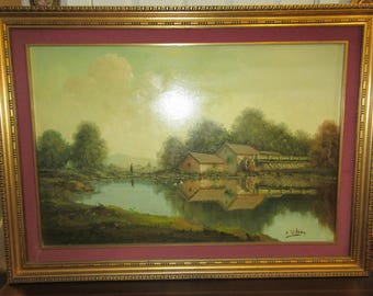 ORIGINAL LANDSCAPE PAINTING by E. Whitney