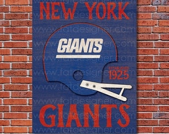 New York Giants - Vintage Helmet - Art Print - Perfect for Mancave