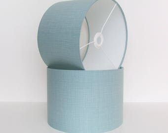 Duck Egg Blue Geometric Lampshade by Makower