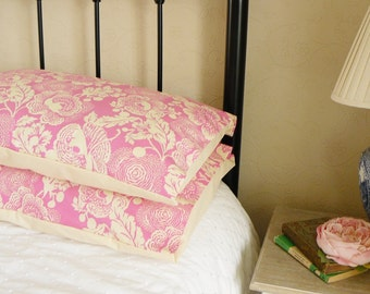 Pretty Bedroom Pillow Shams Cases in Amy Butler Cotton Fabric 2516