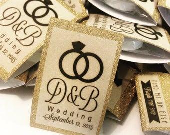 Wedding Favor - Mint to be - Lifesaver Mints - 1 MINT per package - Gold paper