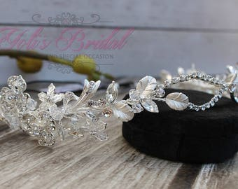 FAST SHIPPING!! Bridal Hair Comb, Swarovski  Hair Comb, Crystal Hair Comb, Swarovski Hairband