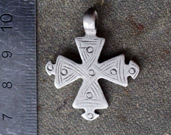 Ancient Ethiopian Coptic Silver Cross