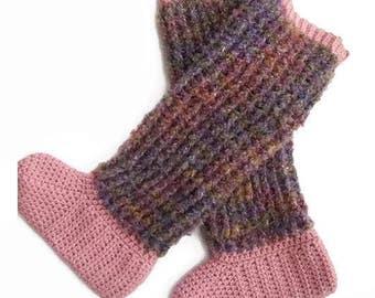 CROCHET PATTERN, Slipper Socks, Ladies Boots, Sipper Pattern, Crochet Socks, Sock Boots, Beginner Slipper Pattern, Crochet Download