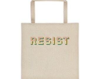 RESIST Political Canvas Tote
