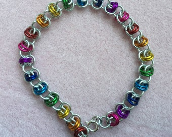 Lightweight Chainmaille Bracelet // multiple color options // gifts for her