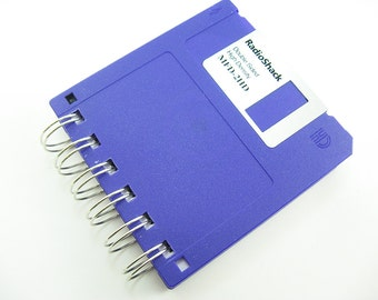 Purple Floppy Disk Notebook, Blank, Wire Bound, To Do List, To Do Notepad, Limited Edition