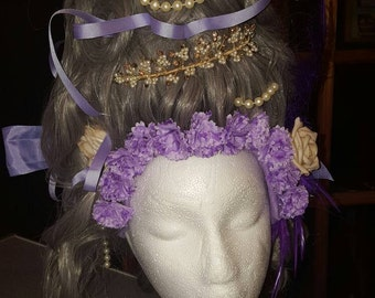 French Renaissance Rococco Marie Antionette style headpiece