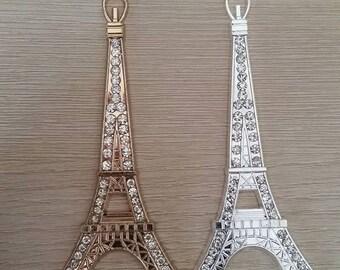 2 x Paris Eiffel Tower Alloy Flatbacks for Scrapbooking Craft Projects