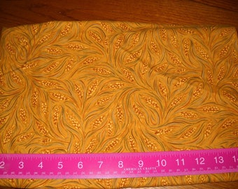 Destash- Vintage Gold Flannel Fabric Remnant