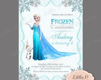 Frozen Invitation. Frozen Birthday Invitation. Frozen Party Invitation. Frozen Invitation Printable. Elsa Invitation. Vintage Invitation 093