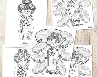 Coloring pages Matryoshka Printable Russian dolls drawings to