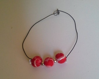Lovely lightweight wet felted necklace