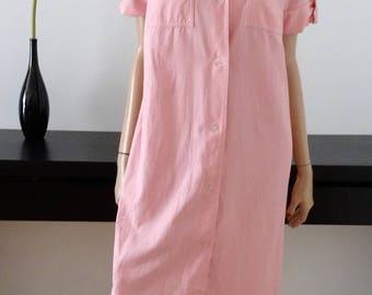robe chemisier vintage rose taille 42 / uk 14 / us 12